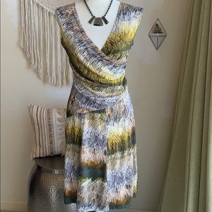 Nic + Zoe V-neck midi dress like new